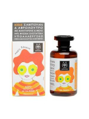 Apivita - Kids, Hair & Body Wash with honey & tangerine, 250ml