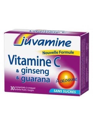 Juvamine - Vitamine C & Ginseng & Guarana, 30 Chewable Tabs