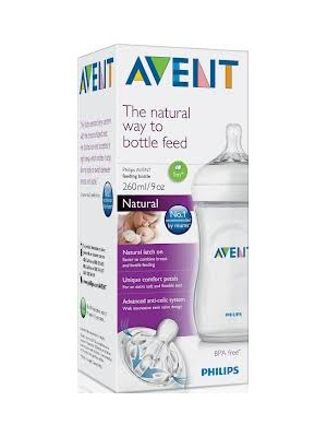 Philips AVENT - BPA Free Natural Bottle, 260ml, SCF693/17