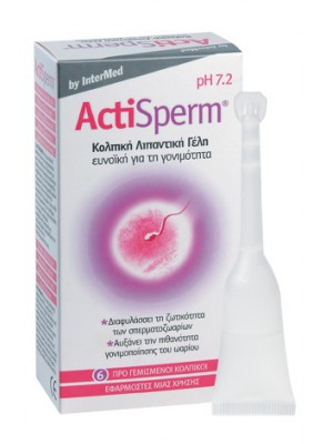 Intermed - ActiSperm Fertility-friendly Vaginal Gel ,6app.