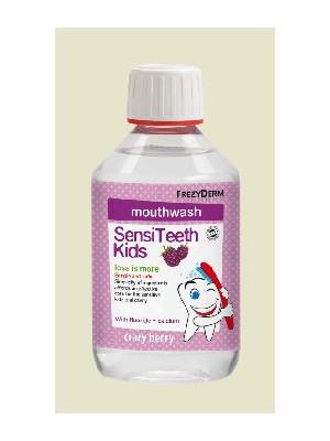 Frezyderm - Sensiteeth kid's mouthwash, Φθοριούχο στοματικό διάλυμα εμπλουτισμένο με ασβέστιο, 250ml