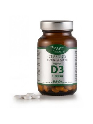 Power Health - Classics, Vitamin D3,1000iu, 60tbs