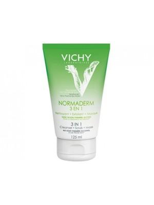 Vichy - Normaderm, Gel Καθαρισμού Τριπλής δράσης 3 σε 1, Καθαρισμός + Απολέπιση + Μάσκα, 125ml