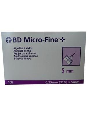 Becton & Dickinson - 100 Βελόνες Microfine-Fine, 31gr x 5mm
