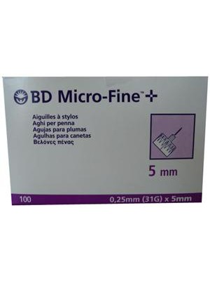 Becton & Dickinson - 100 Micro-Fine Pen Needle, 31gr x 5mm