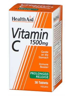 Health Aid - Vitamin C 1500mg, 30 tabs