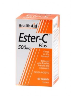 Health Aid - Ester - C Plus 500mg, 60 tabs