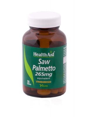 Health Aid - SAW PALMETTO 265mg, ΣΩ ΠΑΛΜΕΤΤΟ για το ανδρικό ουροποιητικό σύστημα, 30 ταμπλέτες