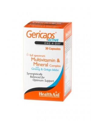 Health Aid - Gericaps Active (with Ginseng + Ginkgo Biloba), 30 caps