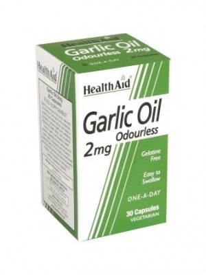 Health Aid - Garlic Oil 2mg Odourless Capsules, 30 caps