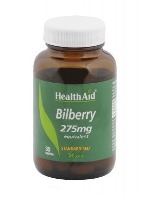 Health Aid - BILBERRY 275mg, ΜΠΙΛΜΠΕΡΥ ενίσχυση όρασης, 30 ταμπλέτες