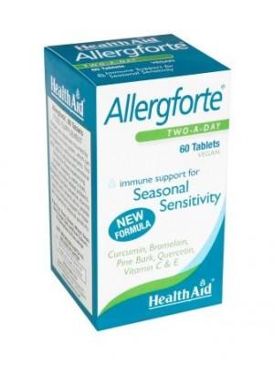 Health Aid - ALLERGFORTE Vitamin C - Quercetin - Turmeric , 60 caps