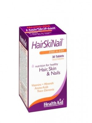 Health Aid - HAIRSKINAIL, Συνδυασμός για τα μαλλιά, το δέρμα & τα νύχια, 30 ταμπλέτες