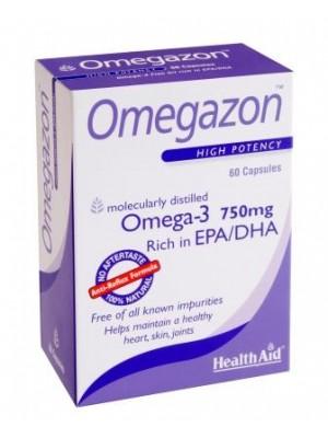 Health Aid - ΩΜΕΓΑ 3, 750 mg - Λιπαρά οξέα, 60 ταμπλέτες