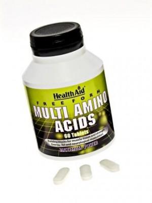 Health Aid - MULTI AMINO ACIDS Free Form, 60 tabs