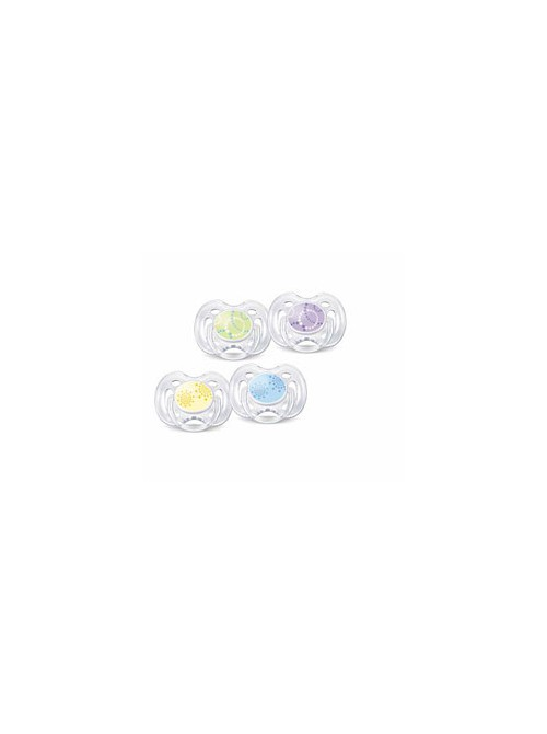 Philips AVENT - 2 Πιπίλες σιλικόνης freeflow 0+ Μοντέρνα Χρώματα, SCF180/23