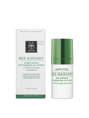 Apivita - BEE RADIANT Κρέμα Ματιών Αντιγήρανσης και Λάμψης με βλαστοκύτταρα πορτοκαλιού, 15ml