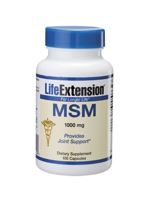 Life Extension - MSM(methylsulfonylmethane), 1000mg, 100 caps