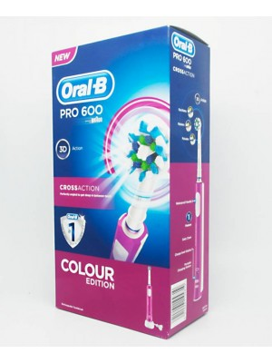 Oral-B - Pro 600 CrossAction Colour Edition Pink Toothbrush