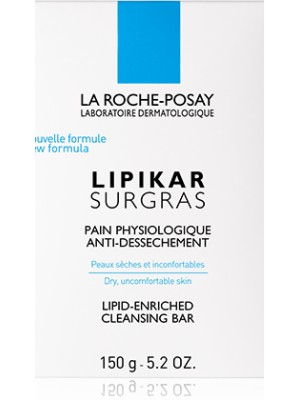 La Roche-Posay - LIPIKAR SURGRAS BAR, LIPID-ENRICHED CLEANSING BAR, 150g