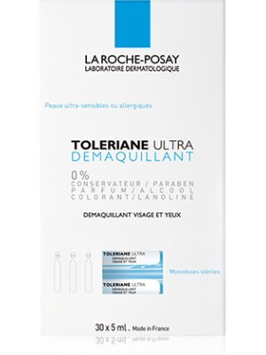 La Roche-Posay - TOLERIANE ULTRA MAKE-UP REMOVER, MAKE-UP REMOVER FACE AND EYES, 30x5ml