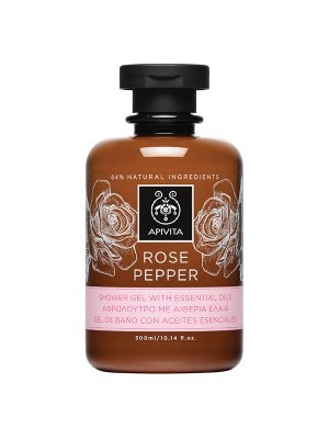 Apivita -  ROSE PEPPER, Shower Gel with Essential Oils, 300ml