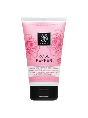 Apivita -  ROSE PEPPER, Firming and Reshaping Body Cream, 150ml