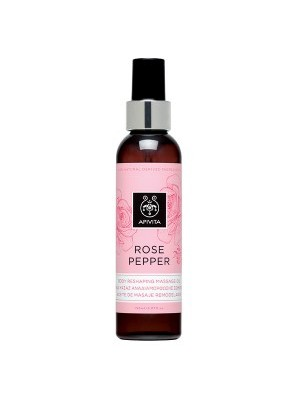 Apivita -  ROSE PEPPER, Body Reshaping Massage Oil, 150ml