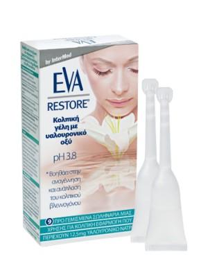 Intermed - Eva Restore, Κολπική γέλη με Υαλουρονικό οξύ, 9σωλ