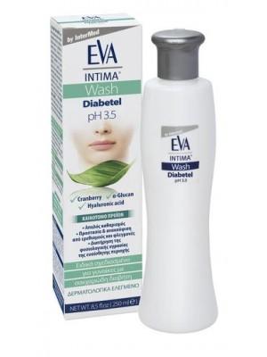 INTERMED - EVA INTIMA WASH DIABETEL Εξιδεικευμένο για τις γυναίκες με σακχαρώδη διαβήτη, 250ML