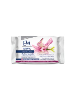 INTERMED - Eva Intima Fresh & Clean Maxi size towelettes, 12SAC