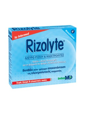 intermed - Rizolyte 'Αλευρο ρυζιού & ηλεκτρολύτες, 6φακ.