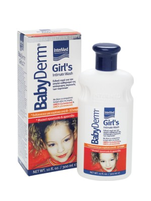 Intermed - Babyderm Girl's Liquid for intimate area wash for girls 0-12 years old, 300ml