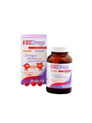Health Aid - KIDZ Omega with Vitamins - Chewable, 60 Μασώμενες κάψουλες