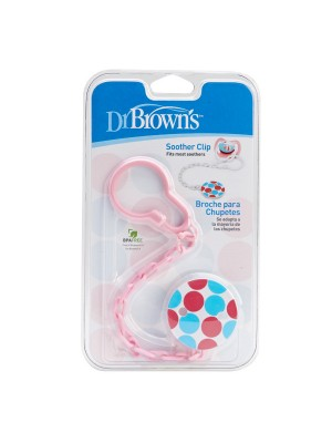Dr Brown's  - Pacifier Clip pink, 037-ac