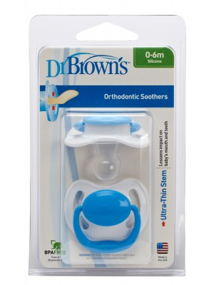 Dr Brown's  - Soother Pacifier Orthodontic 0-6m ,2pcs ,961-GB