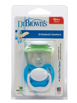 Dr Brown's  - Soother Pacifier Orthodontic 18+m ,2pcs ,981-GB