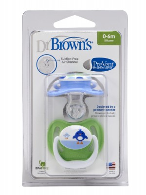 Dr Brown's - PreVent Pacifiers, 0-6m, 2pcs, PV140-GB