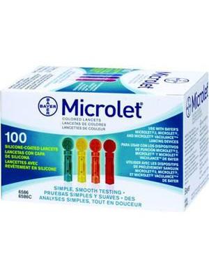 Bayer - Microlet 100 βελόνες σακχάρου