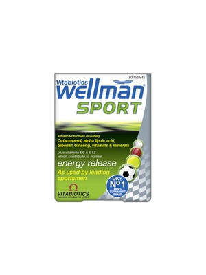 Vitabiotics - Wellman Original, specifically formulated for men training to excel in sports and fitness, 30 Tablets