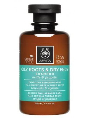 Apivita - Oily Roots & Dry Ends Shampoo with Nettle & Propolis, 250ml
