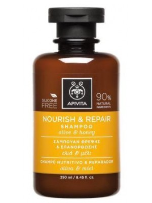 Apivita -  Nourish & Repair Shampoo with Olive & Honey, 250ml