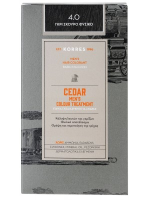 korres - set CEDAR Men's Colour Treatment - natural dark grey  4.0, 100ml