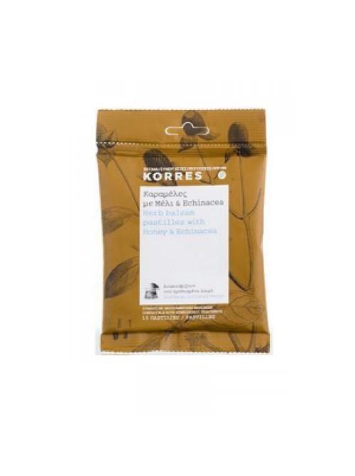 korres - Herb Balsam Pastilles honey & ECHINACEA, 15pcs