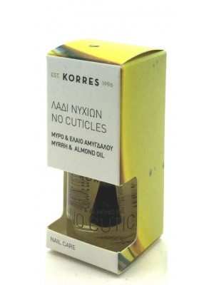 korres - nail care, no cuticles nail oil, myrrh & almond oil, 10ml