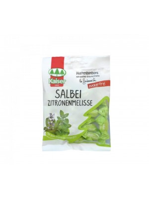 kaiser - sore throat lozenges salbei zitronenmelisse with sage & lemon balm, 60 gr