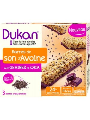 DUKAN - Chocolate Bars with Chia seeds