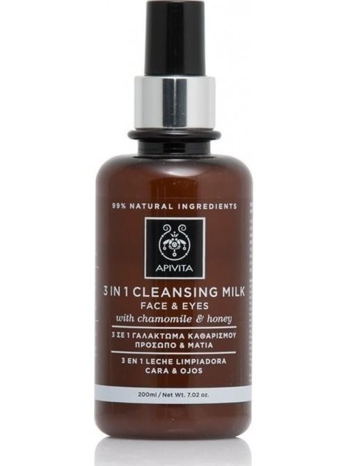 Apivita - Cleansing Γαλάκτωμα 3 σε 1 με Χαμομήλι & Μέλι 200ml