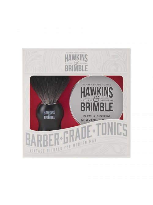 Hawkins & Brimble - Gift set with shaving cream & shaving brush 100ml