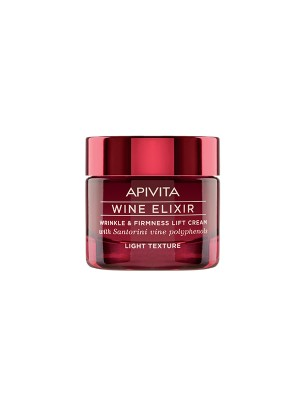 Apivita - Wine elixir Wrinkle & Firmness Lift Cream - Light Texture with Santorini vine polyphenols, 50ml